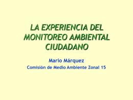 P r e s e n t a c i ó n Sr. Mario Márquez - GAM