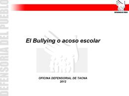 El Bullying Adjuntía para la Niñez y la Adolescencia - sub cafae