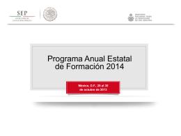 Programa Anual Estatal de Formación