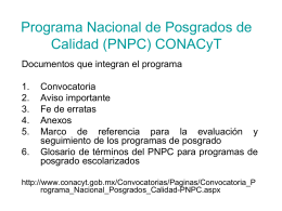 Programa nacional de posgrado