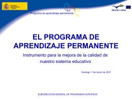 el programa de aprendizaje permanente