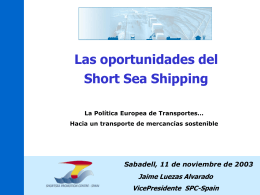 Las oportunidades del Short Sea Shipping
