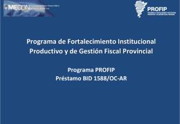 Programa de Fortalecimiento Institucional Productivo y
