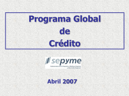 Programa Global de Crédito