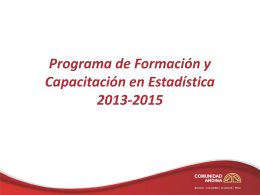 Programa de Formación y Capacitación 2013-2015