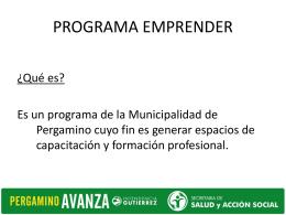 Programa Emprender