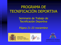 Programa Nacional de Tecnificación Deportiva
