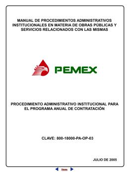 procedimiento administrativo institucional para el programa anual