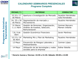 Calendario Programa Completo 2011