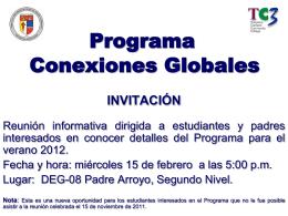 Programa de Conexiones Globales