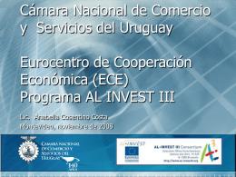 Programa AL INVEST III - Cámara Nacional de Comercio y Servicios