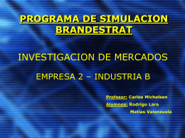 PROGRAMA DE SIMULACION MARKESTRAT