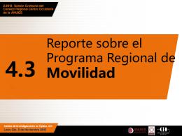 Reporte sobre el Programa Regional de Movilidad Estudiantil .