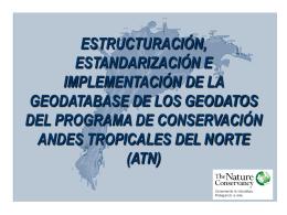 estructuración, estandarización e implementación de la