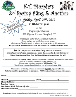 KT Murphy`s Spring Fling and Auction