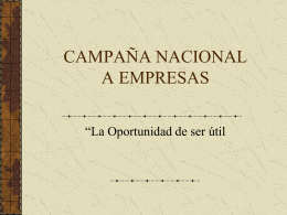 campaña nacional a empresas - Central Mexicana de Servicios