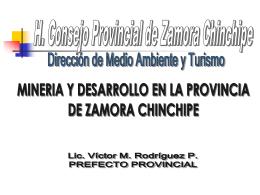 Exposición del prefecto de Zamora Chinchipe