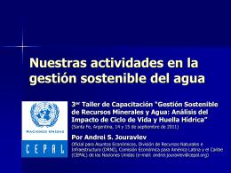 Nuestras actividades en la gestión sostenible del agua