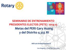 Diapositiva 1 - Distrito 4355