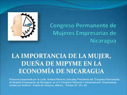 PPT - Congreso de mujeres empresarias de Nicaragua
