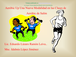 Aerobic Up- Nueva Modalidad en las clases de
