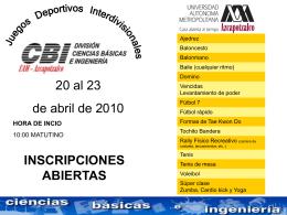 fútbol rápido - ¡Bienvenidos! - Universidad Autónoma Metropolitana