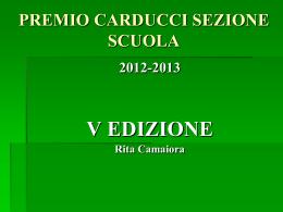 Montale lezione - Premio Carducci