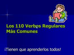 Los 110 Verbos Regulares Mas Comunes