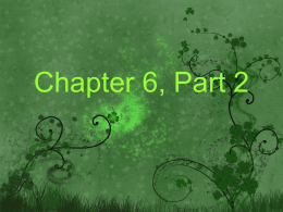 Chapter 6, Part 2