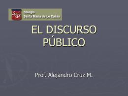EL DISCURSO PÚBLICO.