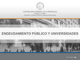 Endeudamiento Público - Consorcio de universidades estatales