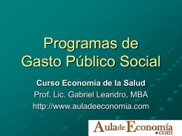 Gasto social y análisis del gasto público