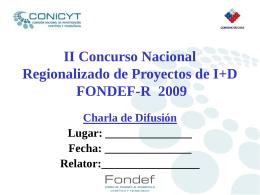 XV Concurso de Proyectos de I+D de FONDEF