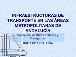 INFRAESTRUCTURAS DE TRANSPORTE EN LAS ÁREAS