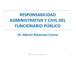 La Responsabilidad Administrativa