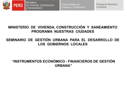 Archivo - Ministerio de Vivienda, Construcción y Saneamiento