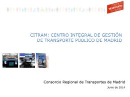 Centro Integral de Gestión de transporte público de Madrid