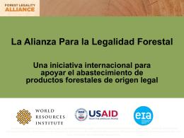 Sector público-privado: La Alianza para la Legalidad Forestal