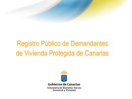 Registro Público de Demandantes de Vivienda Protegida