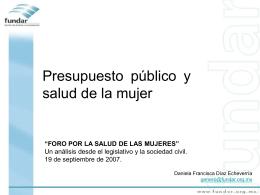 Mortalidad materna y presupuesto público