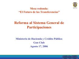 Crecimiento del PIB Ministerio de Hacienda y Crédito Público