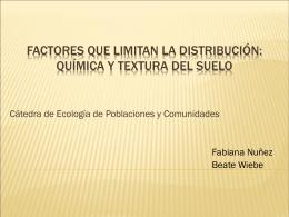 Factores que Limitan la Distribución: Química y Textura del Suelo