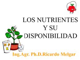 Distribución del agua, nutrientes y raíces en el suelo