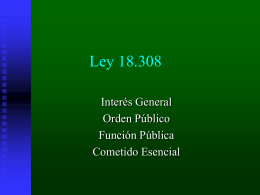 Power point del Primer encuentro sorbe la referida ley