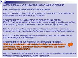 TEMA 6.- La ordenación del suelo industrial.