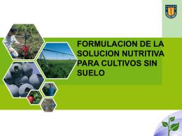 Solucion nutritiva y cultivo hidroponico kr