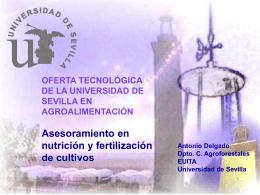 OFERTA TECNOLÓGICA DE LA UNIVERSIDAD DE SEVILLA EN