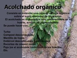 Acolchado orgánico - wikiagronomiaitroque