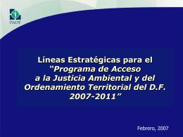 Programa de Acceso a la Justicia Ambiental y del