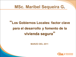 Lic. Maribel Sequeira - IFAM